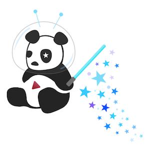 Naujas youtube's dizainas Cosmic Panda