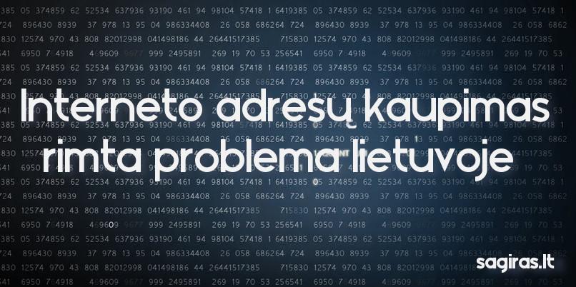 interneto adresu kaupimas problema