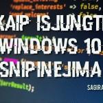 Kaip išjungti Windows 10 šnipinėjimą, sekimą